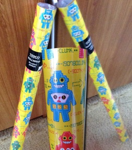 Robot wrapping paper from Tesco