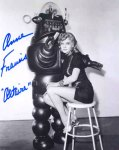 Photo signed by Anne Francis + Altaira