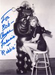 Photo signed by Anne Francis + Robbie