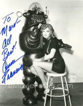 Photo signed by Anne Francis