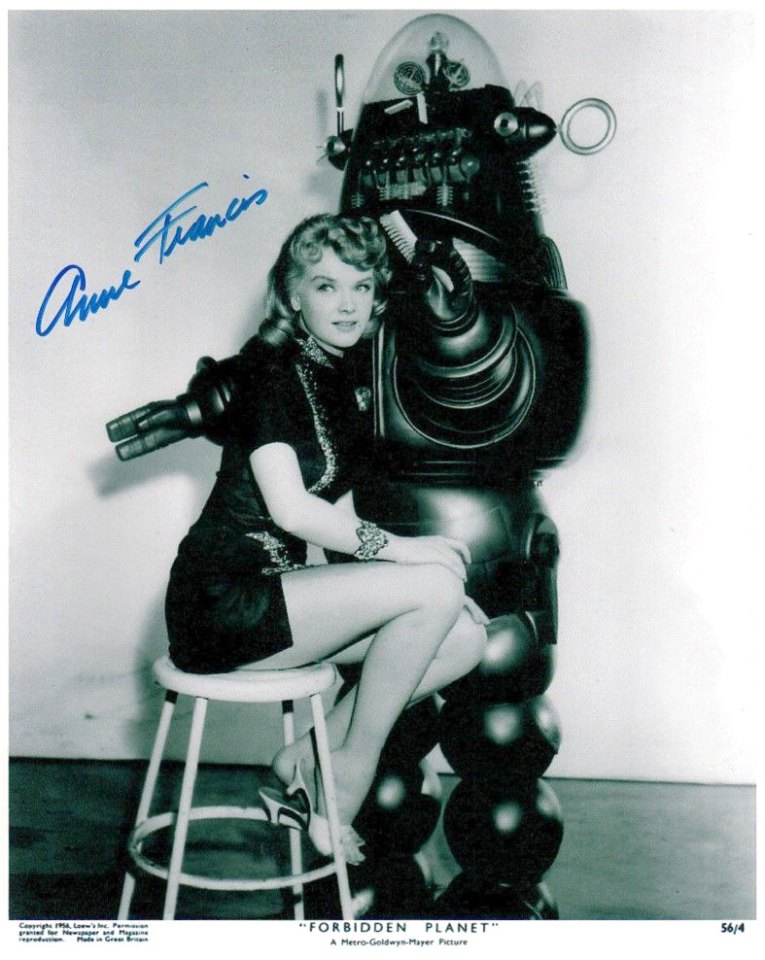Signed Anne Francis Lobby Card