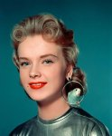Anne Francis with budgie earring!