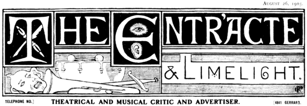 The Entr'acte & Limelight masthead